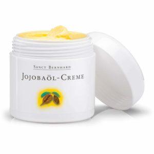 Jojobaöl-Creme in weisser Dose